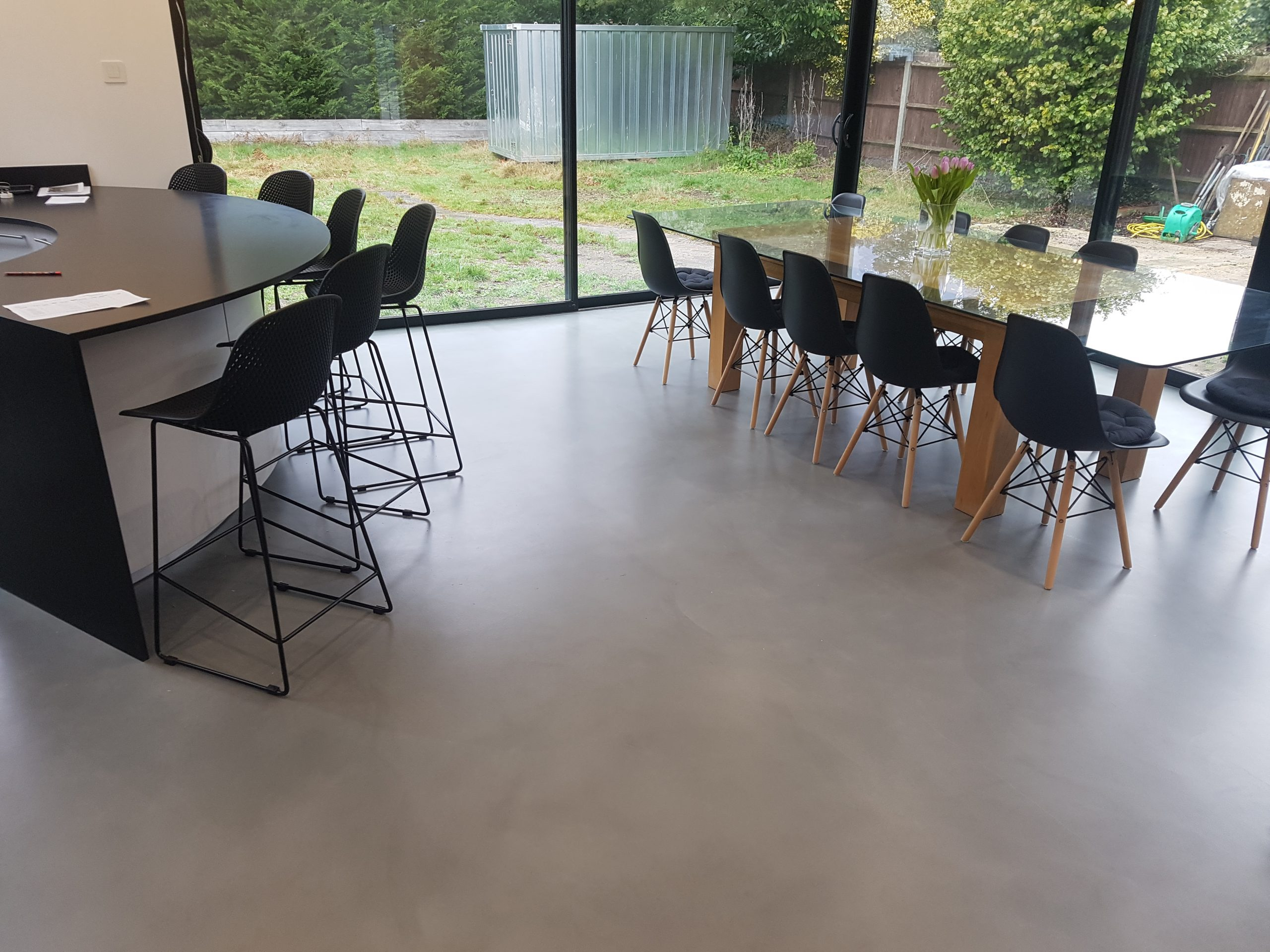 microcement in living room