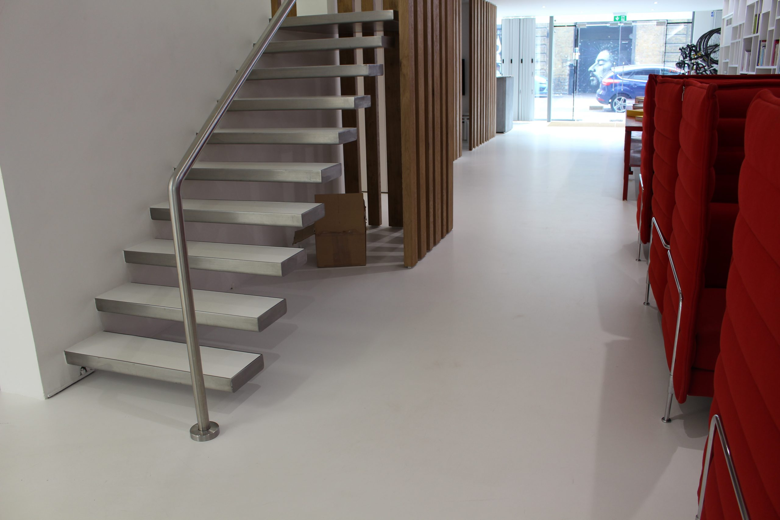 commerical floors stairs