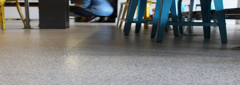 Microcement and resin floor systems